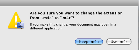 how to change m4a to m4r in itunes